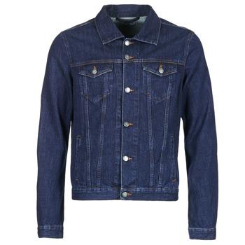 Oblečenie Muži Džínsové bundy Yurban HEDEM Modrá / Raw