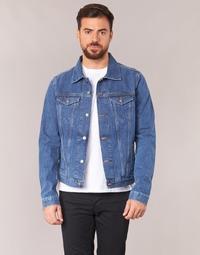 Oblečenie Muži Džínsové bundy Yurban IHEDEM Modrá / Medium