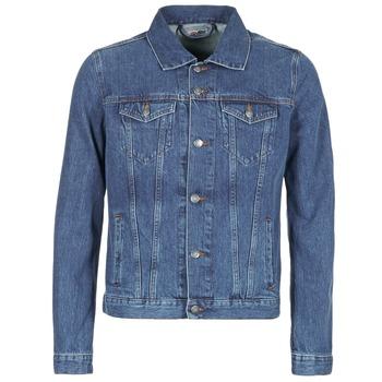Oblečenie Muži Džínsové bundy Yurban HEDEM Modrá / Medium