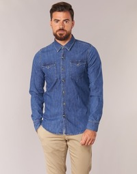 Oblečenie Muži Košele s dlhým rukávom Casual Attitude IHERZI Modrá / Medium