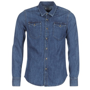 Oblečenie Muži Košele s dlhým rukávom Yurban HERZI Modrá / Medium