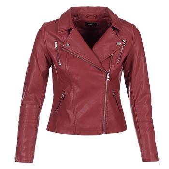 Oblečenie Ženy Kožené bundy a syntetické bundy Only MADDY Červená