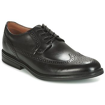 Topánky Muži Derbie Clarks BLACK LEATHER Čierna