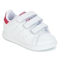 Topánky Dievčatá Nízke tenisky adidas Originals STAN SMITH CF I Biela / Ružová