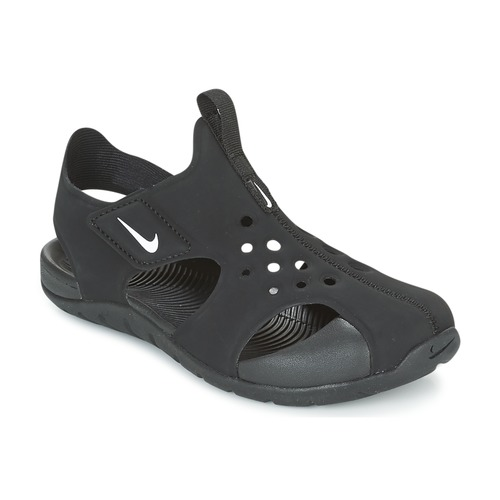 Topánky Deti Sandále Nike SUNRAY PROTECT 2 CADET Čierna / Biela