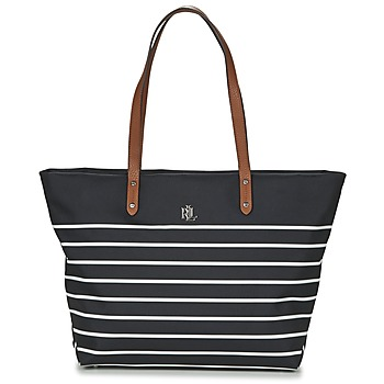 Tašky Ženy Veľké nákupné tašky  Ralph Lauren BAINBRIDGE TOTE Čierna / Biela