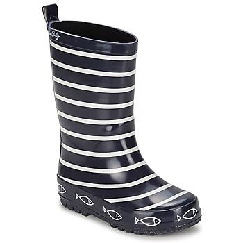 Topánky Deti Čižmy do dažďa Be Only TIMOUSS Námornícka modrá