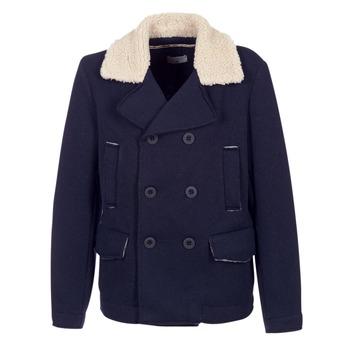 Oblečenie Muži Kabáty Casual Attitude HAXO Námornícka modrá