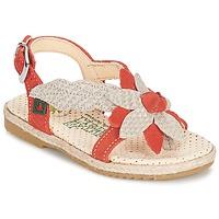 Topánky Dievčatá Sandále El Naturalista SAMOA Oranžová / Krémová