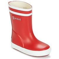 Topánky Deti Čižmy do dažďa Aigle BABY FLAC Červená / Biela