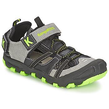 Topánky Chlapci Sandále Kangaroos KANGASPEED 2068 čierna / Zelená