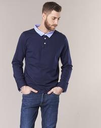Oblečenie Muži Polokošele s dlhým rukávom Casual Attitude IHEYA Námornícka modrá