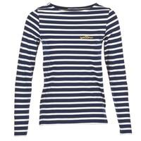 Oblečenie Ženy Tričká s dlhým rukávom Betty London FLIGEME Námornícka modrá / Biela