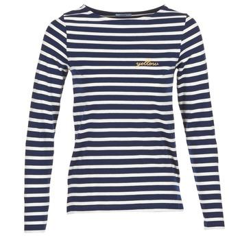 Oblečenie Ženy Tričká s dlhým rukávom Betty London IFLIGEME Námornícka modrá / Biela