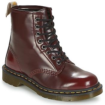 Topánky Polokozačky Dr Martens VEGAN 1460 Červená