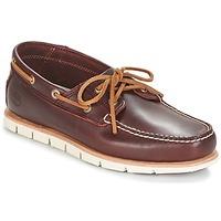 Topánky Muži Námornícke mokasíny Timberland TIDELANDS 2 EYE Bordová
