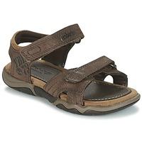Topánky Deti Športové sandále Timberland OAK BLUFFS Hnedá