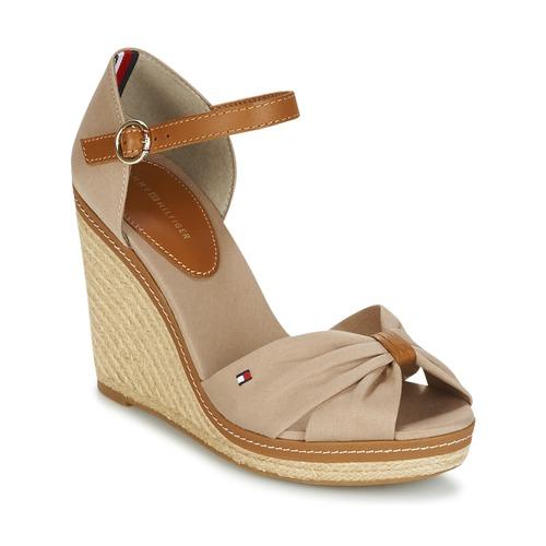 Topánky Ženy Sandále Tommy Hilfiger ICONIC ELENA SANDAL Béžová