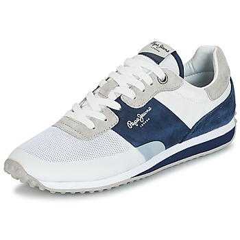 Topánky Muži Nízke tenisky Pepe jeans GARRET SAILOR Biela / Modrá