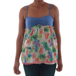 Oblečenie Ženy Tielka a tričká bez rukávov Fornarina VIOLAINE_MULTICOLOR Azul