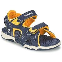 Topánky Deti Športové sandále Timberland ADVENTURE SEEKER 2-STRAP SANDAL Modrá / žltá