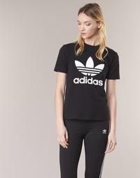 44b73f238c Oblečenie Ženy Tričká s krátkym rukávom adidas Originals TREFOIL TEE Čierna