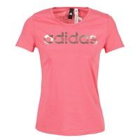 Oblečenie Ženy Tričká s krátkym rukávom adidas Performance FOIL LINEAR Ružová