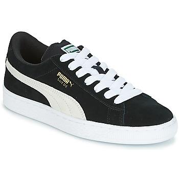 Topánky Deti Nízke tenisky Puma SUEDE JR Čierna / Biela