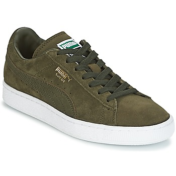 Topánky Nízke tenisky Puma SUEDE CLASSIC + Kaki / Biela