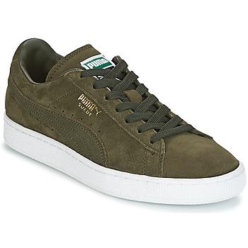 Topánky Muži Nízke tenisky Puma SUEDE CLASSIC + Kaki / Biela