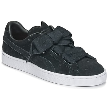 Topánky Dievčatá Nízke tenisky Puma SUEDE HEART VALENTINE JR Čierna