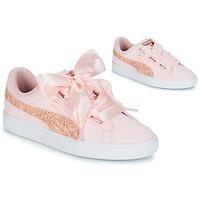 Topánky Ženy Nízke tenisky Puma BASKET HEART CANVAS W'S Ružová