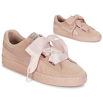 Topánky Ženy Nízke tenisky Puma W SUEDE HEART EP Ružová