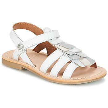 Topánky Dievčatá Sandále Aster CORELLE Biela