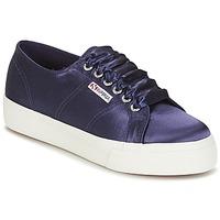 Topánky Ženy Nízke tenisky Superga 2730 SATIN W Námornícka modrá