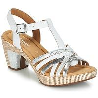 Topánky Ženy Sandále Gabor MASTIAR Biela / Strieborná