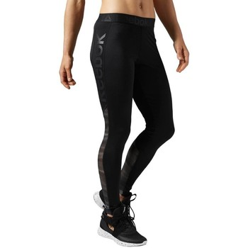 Oblečenie Ženy Legíny Reebok Sport Workout Show Mesh Logo Čierna