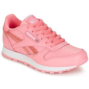 Topánky Dievčatá Nízke tenisky Reebok Classic CLASSIC LEATHER SPRING Ružová
