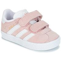 Topánky Dievčatá Nízke tenisky adidas Originals GAZELLE CF I Ružová