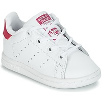 Topánky Dievčatá Nízke tenisky adidas Originals STAN SMITH I Biela / Ružová
