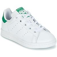 Topánky Deti Nízke tenisky adidas Originals STAN SMITH C Biela / Zelená
