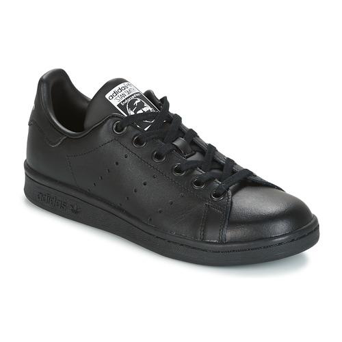 Topánky Deti Nízke tenisky adidas Originals STAN SMITH J Čierna