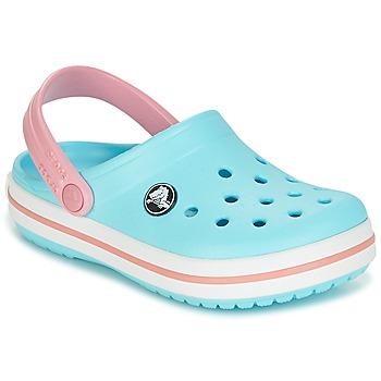 Topánky Dievčatá Nazuvky Crocs Crocband Clog Kids Modrá / Ružová