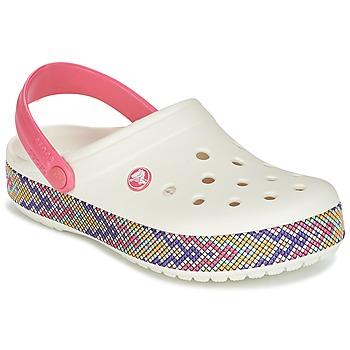 Topánky Ženy Nazuvky Crocs CROCBAND GALLERY CLOG Biela / Ružová