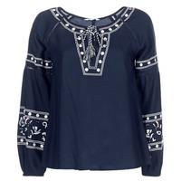 Oblečenie Ženy Blúzky Deeluxe BERTHA Námornícka modrá