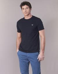 Oblečenie Muži Tričká s krátkym rukávom Fred Perry RINGER T-SHIRT Námornícka modrá