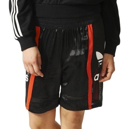 Oblečenie Ženy Šortky a bermudy adidas Originals Basketball Baggy Čierna,Červená