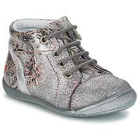 Topánky Dievčatá Polokozačky GBB ROSEMARIE Strieborná