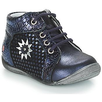 Topánky Dievčatá Polokozačky GBB RESTITUDE Modrá