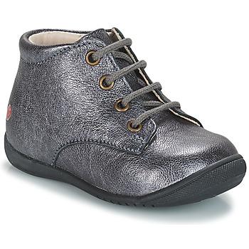 Topánky Dievčatá Polokozačky GBB NAOMI Strieborná